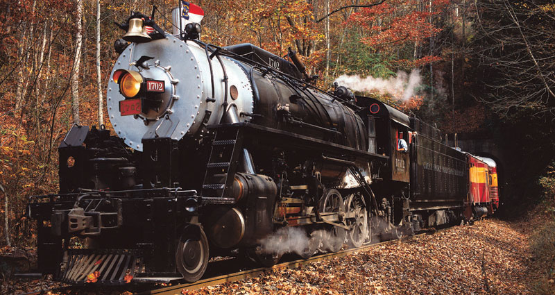 Great Smoky Mountain Railroad's 1702 steam engine