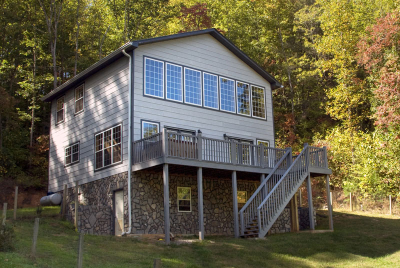 Exterior of Ray's Cabin